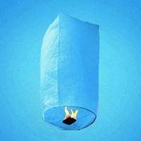 Небесный фонарик голубой в виде купола