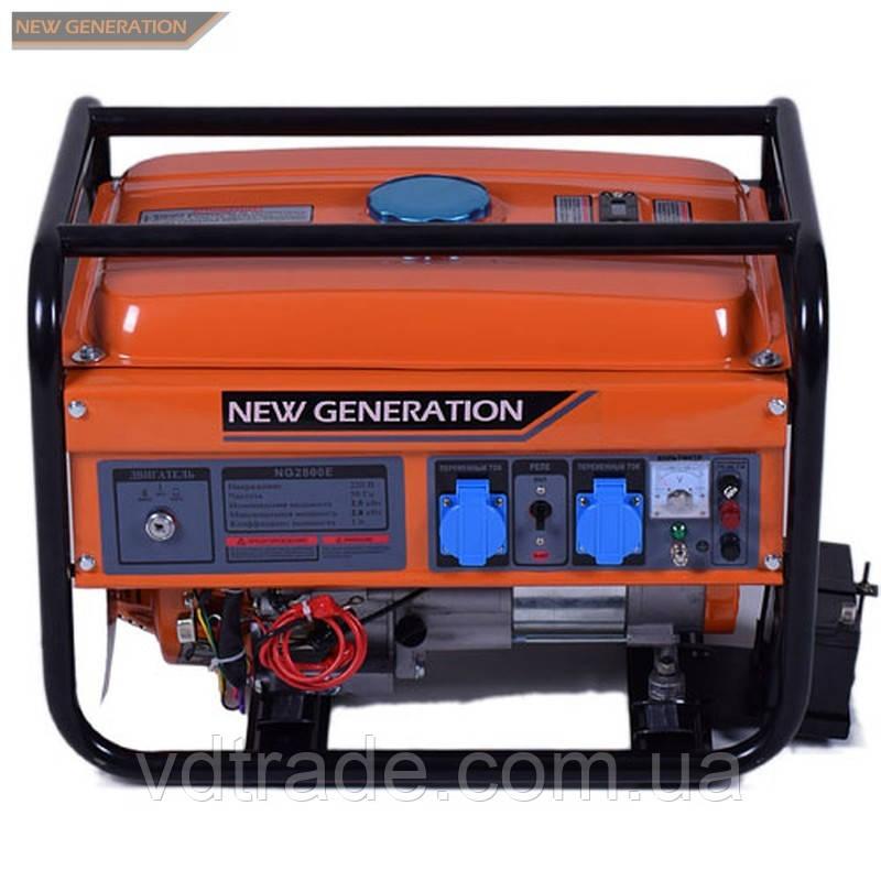 Генератор бензиновий New Generation NG2800E 2,5/2,8кВт