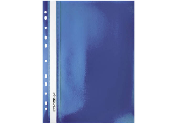 "Папка-швидкозшивач А4 Economix Light з перфорацією, фактура ""помаранч"", синя, фото 2"