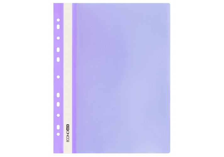 "Папка-швидкозшивач А4 Economix з перфорацією, фактура ""глянець"", фіолетова"