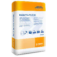 Клей цементный для плитки, керамики, гранита, мрамора, натур. камня, стекломозаики BASF MasterTile FLX 24
