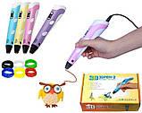 3D ручка MyRiwell с LED дисплеем 3д ручка для детей + наклейки в подарок, фото 2