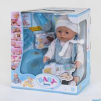 Пупс функциональный, 8 функций, с аксессуарами, в коробке Baby Love BL 030 B