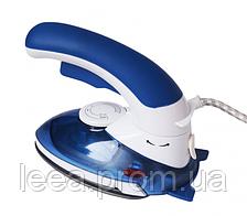 🔝 Утюг дорожный, отпариватель для одежды, 2 в 1, цвет - синий, HT-558 B, утюг отпариватель
