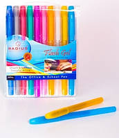 Набор гелевых ручек Radius Flash Gel с блестками, 10 цв.
