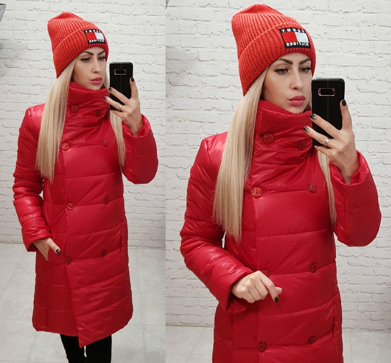 Куртка пальто демисезон (арт. 1002) красный