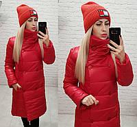 Куртка пальто демисезон (арт. 1002) красный, фото 1