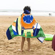 Детское полотенце с капюшоном whale_ship