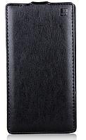[ Чехол-флип Lenovo K910 K910L K910S K910I ] Чехол-флип из натуральной кожи для Леново черный