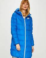Зимняя женская спортивная длинная куртка (силикон) на морозы -25-30. Размер ХС-12ХХЛ