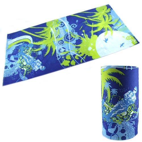Бафф бандана-трансформер, шарф из микрофибры, пляж