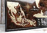 🔝 Скретч карта в тубусе, My Map Chocolate edition, стирающаяся карта мира, ENG, фото 2
