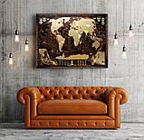 🔝 Скретч карта в тубусе, My Map Chocolate edition, стирающаяся карта мира, ENG, фото 4
