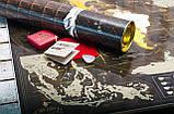 🔝 Скретч карта в тубусе, My Map Chocolate edition, стирающаяся карта мира, ENG, фото 6