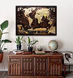 🔝 Скретч карта в тубусе, My Map Chocolate edition, стирающаяся карта мира, ENG, фото 7