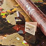 🔝 Скретч карта в тубусе, My Map Chocolate edition, стирающаяся карта мира, ENG, фото 9