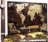 🔝 Скретч карта в тубусе, My Map Chocolate edition, стирающаяся карта мира, ENG, фото 10