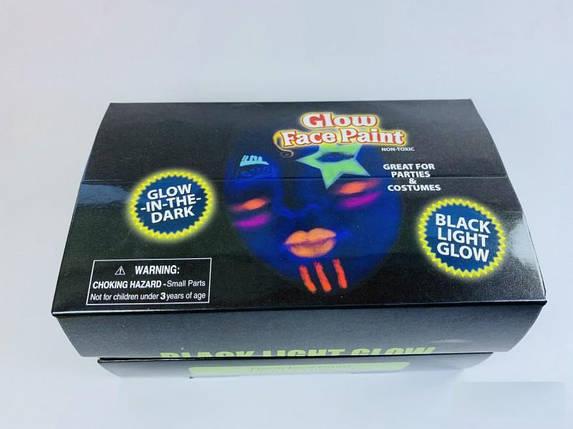 Краска для лица светящаяся в темноте 10 мл 24 штуки в упаковке, фото 2