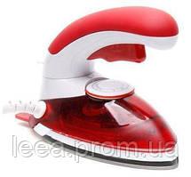 🔝 Дорожный утюг, ручной отпариватель, 2 в 1, цвет - красный, HT-558 B, паровой утюг