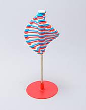 🔝 Игрушка антистресс Rainbow Lollipop, Сине-красно-белая, массажер для ладоней, крутилка антистресс