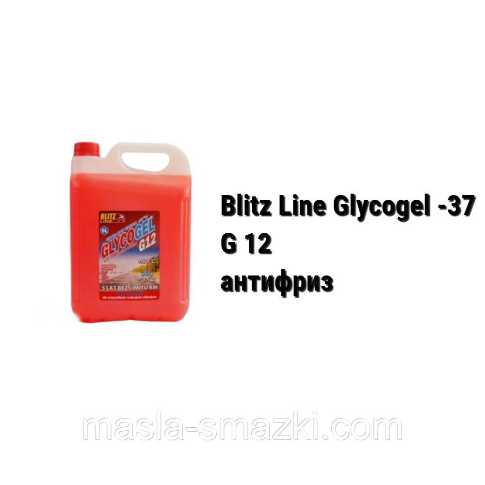 Антифриз G12 красный Blitz Line Glycogel ready-mix -37°C (Польша) -  (5 л)