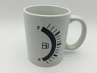 Кружка-чашка хамелеон Бензоколонка/Заправка белая, фото 1