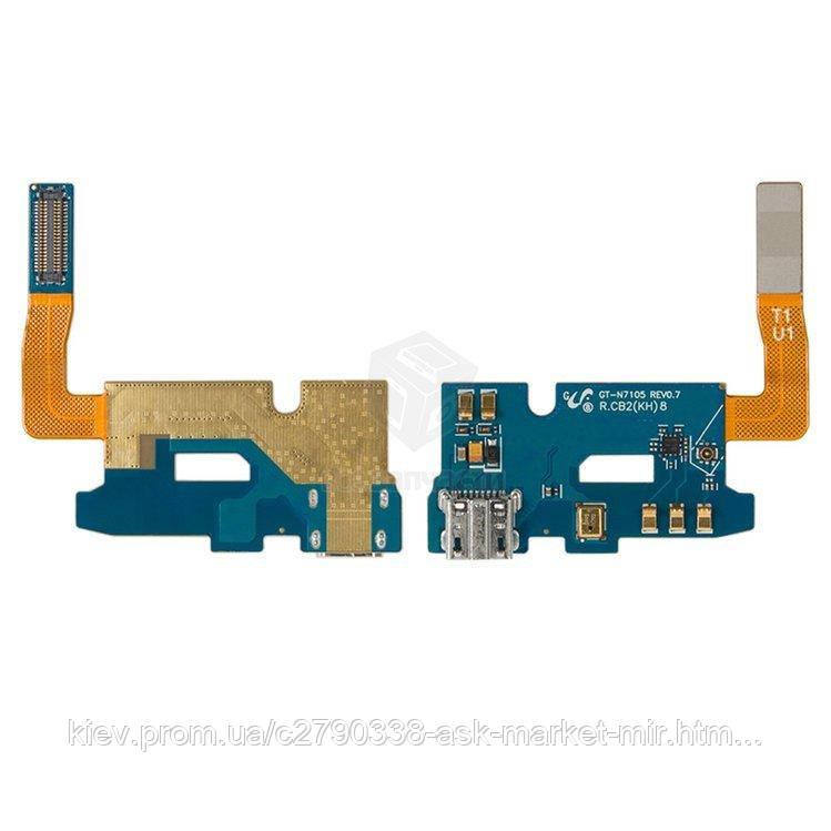 Шлейф для Samsung Galaxy Note 2 N7105 Original Разъем зарядки, микрофон