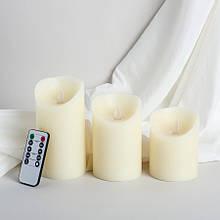 Набор электронных свечей с имитацией пламени (3 шт)
