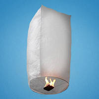 Небесный фонарик белый в виде купола