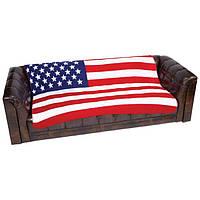 Флисовое покрывало плед Американский флаг, фото 1