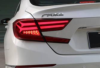 Диодные фонари LED тюнинг оптика Honda Accord 10 (2018+) красные