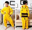 Пижама детская кигуруми Пикачу Pokemon Pikachu Желтый 122 см, фото 3
