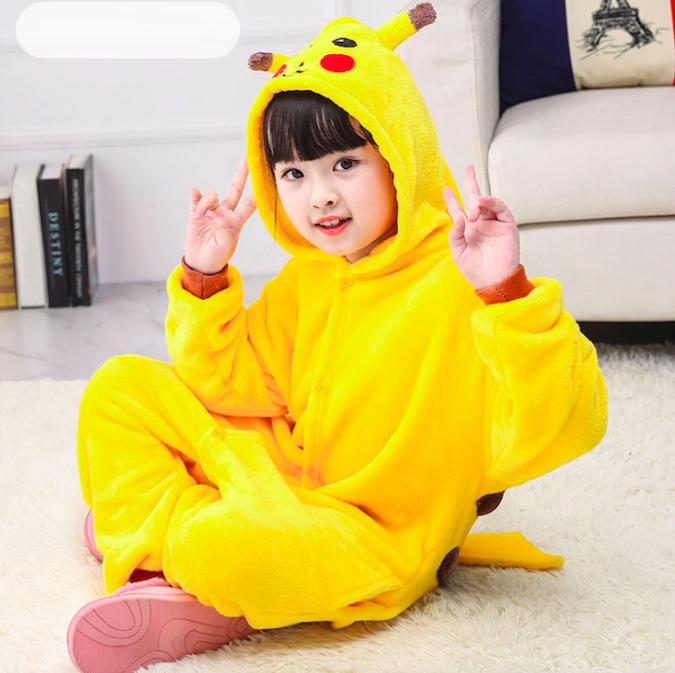 Пижама детская кигуруми Пикачу Pokemon Pikachu Желтый 122 см