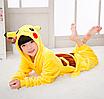 Пижама детская кигуруми Пикачу Pokemon Pikachu Желтый 122 см, фото 5