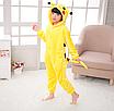 Пижама детская кигуруми Пикачу Pokemon Pikachu Желтый 122 см, фото 6