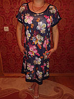 Легкое синее платье мод 517