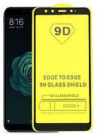 Защитное стекло TDG 9D для Xiaomi Mi A2 (Mi 6X) Full Glue черный 0,26 мм в упаковке