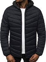 Куртка мужская демисезонная осенняя весенняя утепленная черная