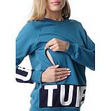 Толстовка МАРГО для беременных и кормления ТМ l LOVE MUM патиновый, фото 6