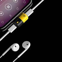 Переходник iPhone5/6 для зарядки и наушников (2в1) LIGHTING SPLITTER, фото 3