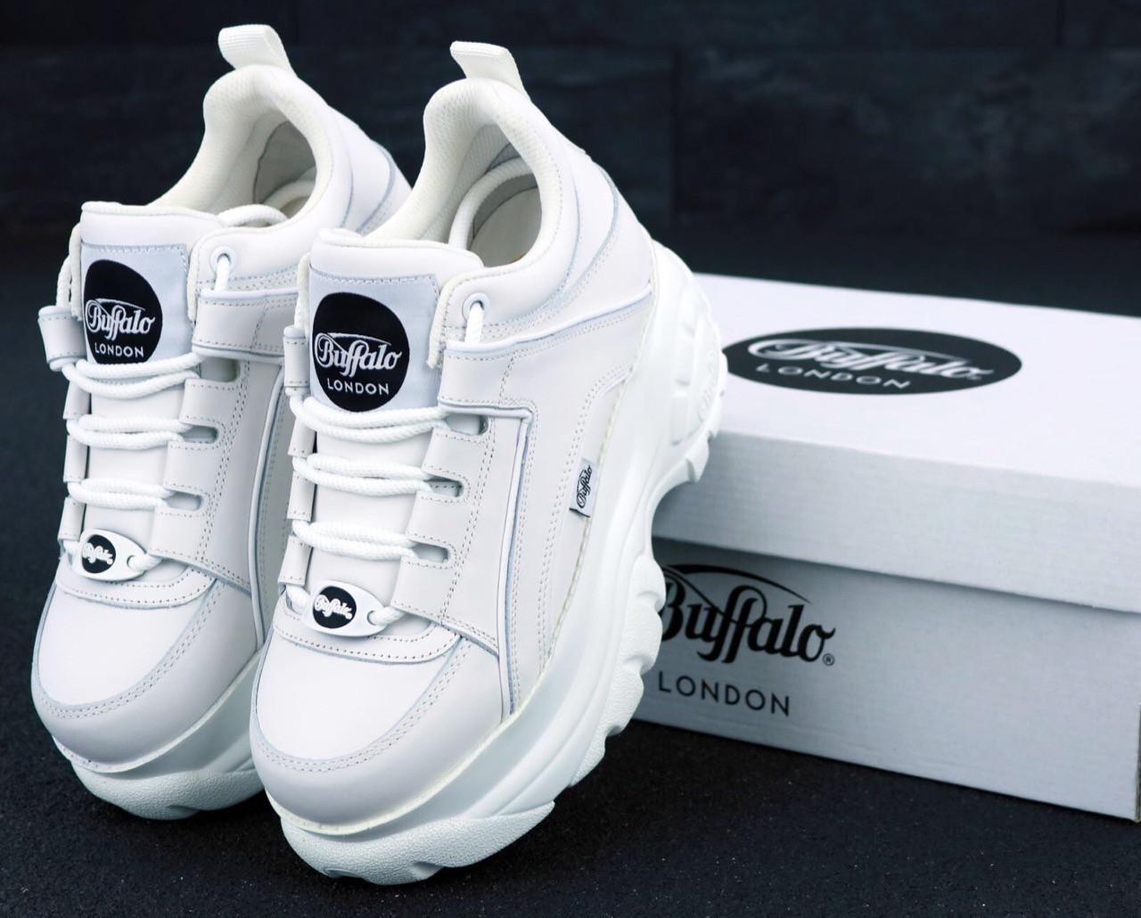 Женские кроссовки Buffalo London White . ТОП Реплика ААА класса.