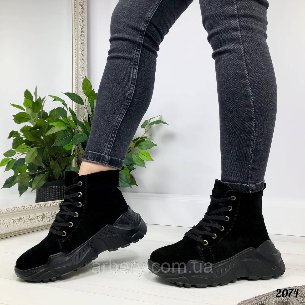 Женские натуральные зимние ботинки, фото 1