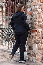 """Теплый спортивный женский костюм """"Berry"""" с капюшоном (большие размеры), фото 3"""