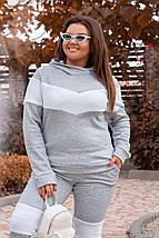 """Теплый спортивный женский костюм """"Berry"""" с капюшоном (большие размеры), фото 2"""