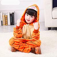 Пижама тигренок детская кигуруми Оранжевый 122 см