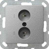 Аудиорозетка Gira System 55, алюминий (040226)