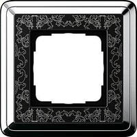 Рамка Gira ClassiX Art 1 п., хром черный (0211682)