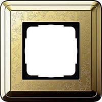 Рамка Gira ClassiX Art 1 п., латунь (0211671)