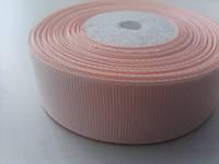 Лента репсовая 2,5 см персиковая