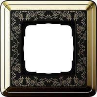 Рамка Gira ClassiX Art 1 п., латунь черный (0211672)